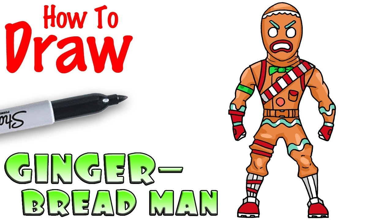 How To Draw Gingerbread Man Fortnite Youtube