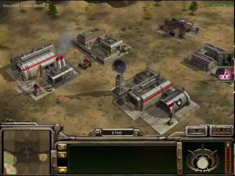 Command and Conquer Generals 1vs7 brutal army