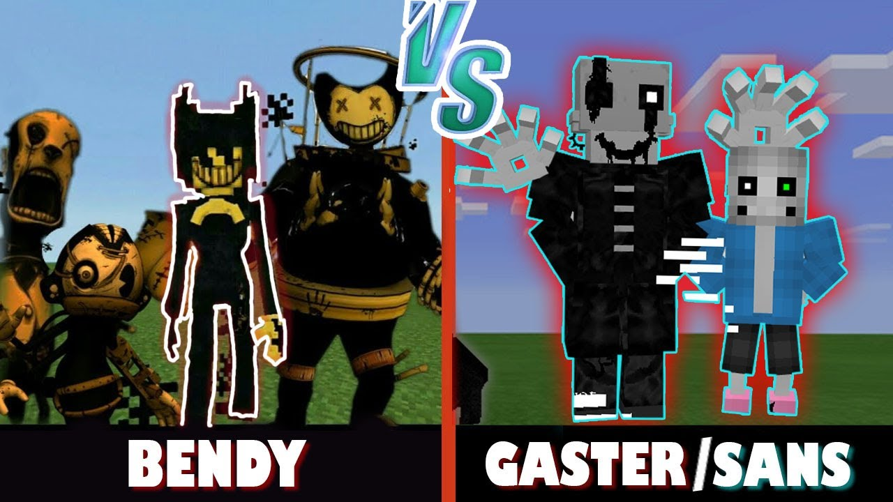 Bendy and the Ink Machine vs. Gaster and Sans | Minecraft (INTENSE BATTLE?)