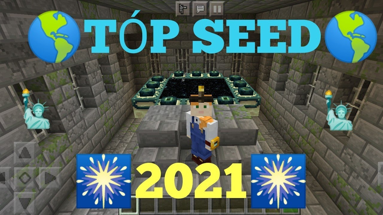 BEST SEED 12: End Portal , nether Fortress , PIGLINS Fortress , ( Seed  para zerar o Minecraft Pe )