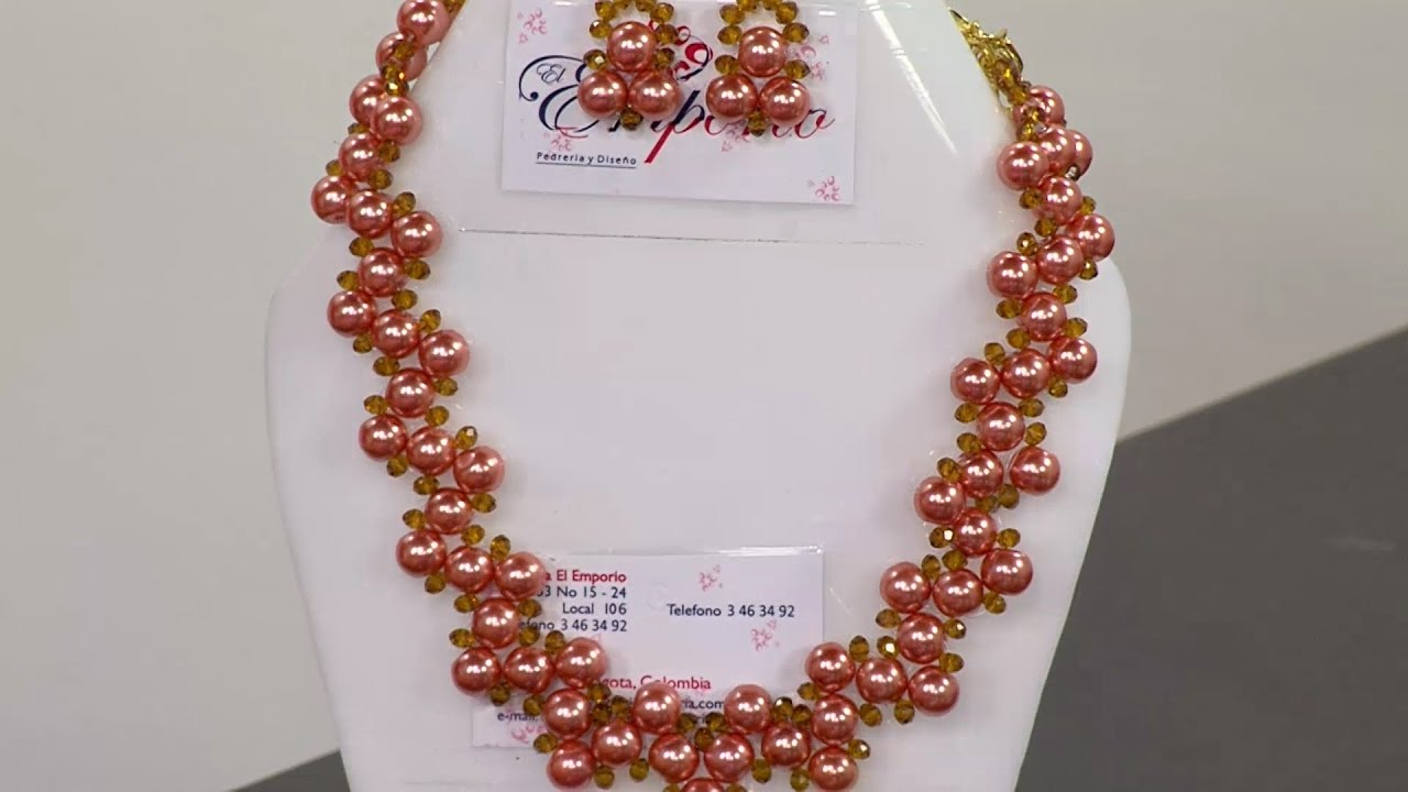 Manualidad: Collar Ensamble De Piedras De Perlas
