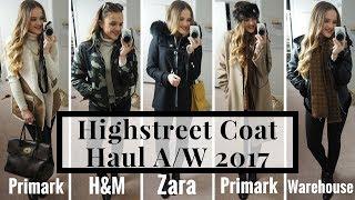 HIGH STREET COAT HAUL A/W 2017 | FT. ZARA PRIMARK H&M