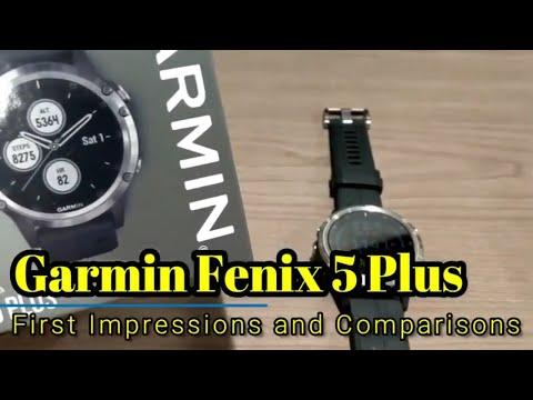 garmin-fenix-5-plus:-first-impressions-and-comparisons