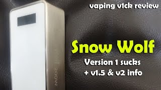 The White Snow Wolf Sucks! + v1.5 & v2 info