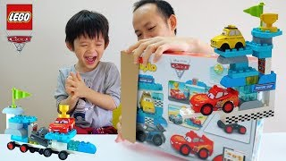 Xavi and LEGO Disney cars 3 - Piston Cup Gate of Lightning McQueen