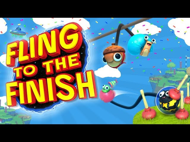 Fling to the Finish - Whip Your Friends Back and Forth! (4 Player Gameplay)