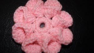 Repeat youtube video Como crochet flor bien facil