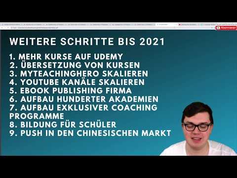 Meine Vision bis zum Jahr 2021 & Markt Infrastruktur besitzen