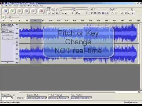 Changing Key or Pitch of Music With Audacity Audio Editor