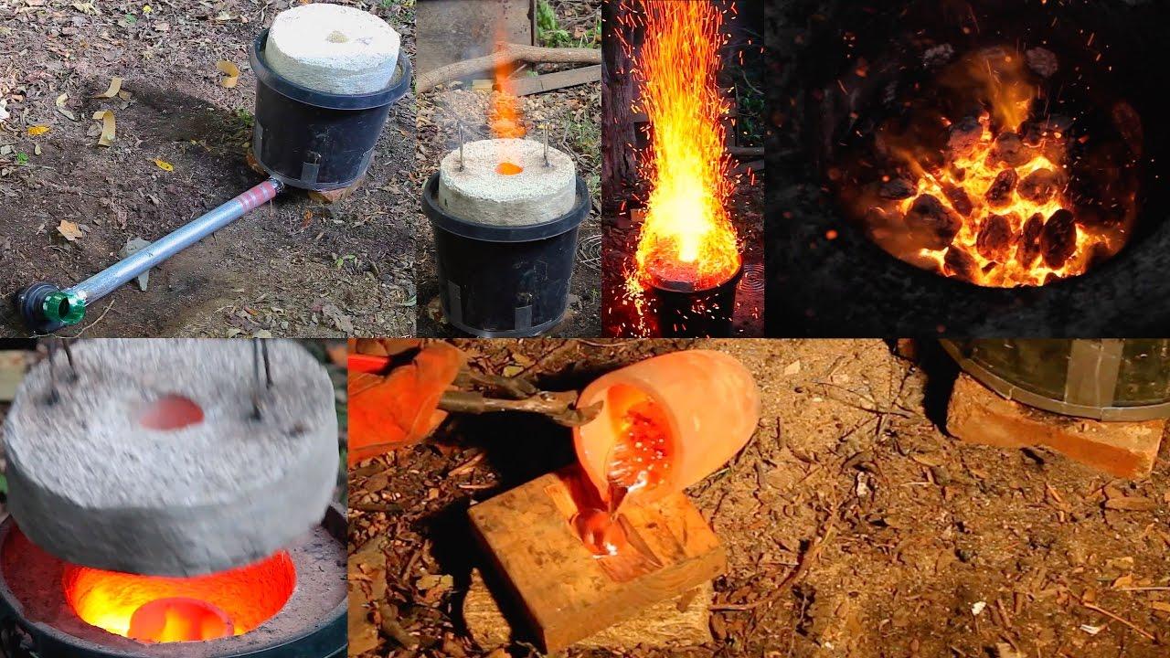 Large $50 Mini Homemade Metal Foundry Furnace Forge ...