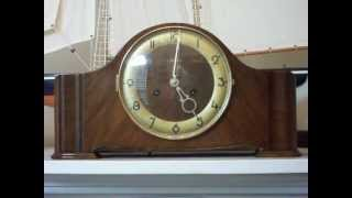 Antique Mauthe Art Deco Deep Gong Chime Mantel Clock