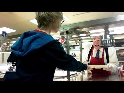 Lunch Lady Spann at Oak Mountain Intermediate School in Shelby County