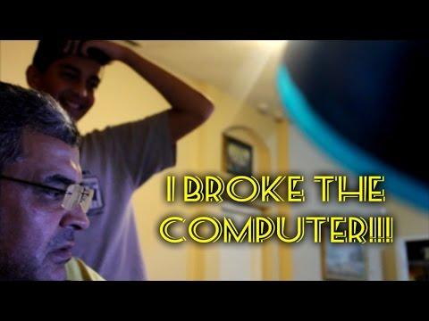 BROKEN COMPUTER SCREEN PRANK ON ARAB DAD!