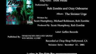 Download Rob Zombie Ft.Ozzy Osbourne - Iron Head MP3 song and Music Video