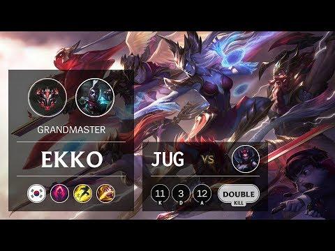 Ekko Jungle vs Elise - KR Grandmaster Patch 9.13