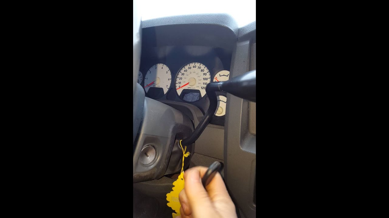 Dodge Ignition Key Wont Turn Temp Fix Youtube 2010 Avenger Fuse Box