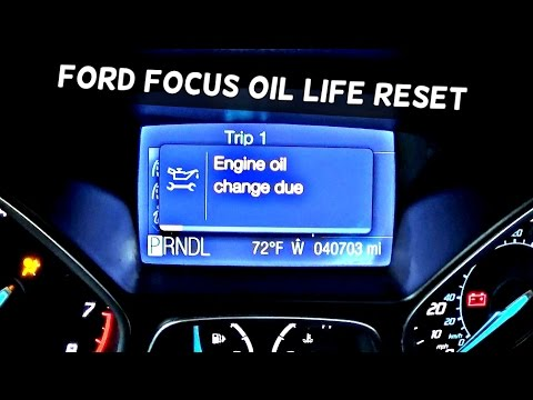 How To Reset Engine Oil Change Due On Ford Focus Mk3 Oil