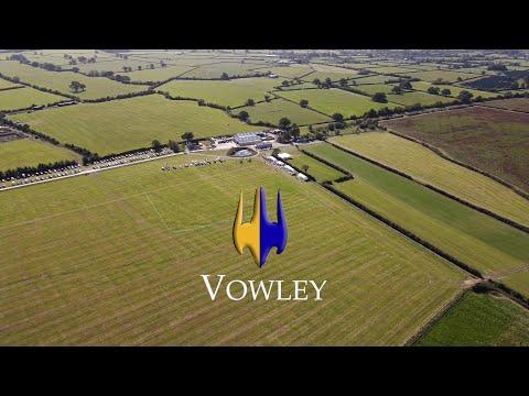Drone footage of the British Falcon Racing facilities at Vowley