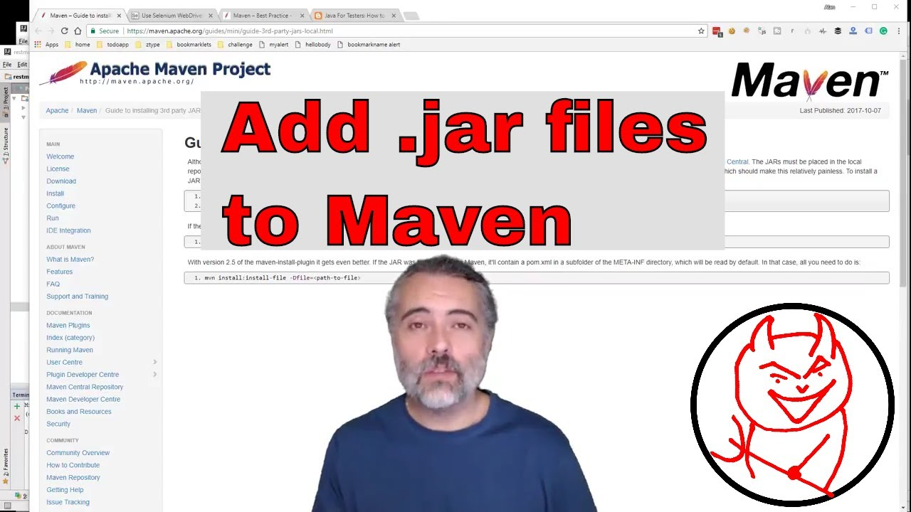 Simple ways to add and work with a ` jar` file in your local maven