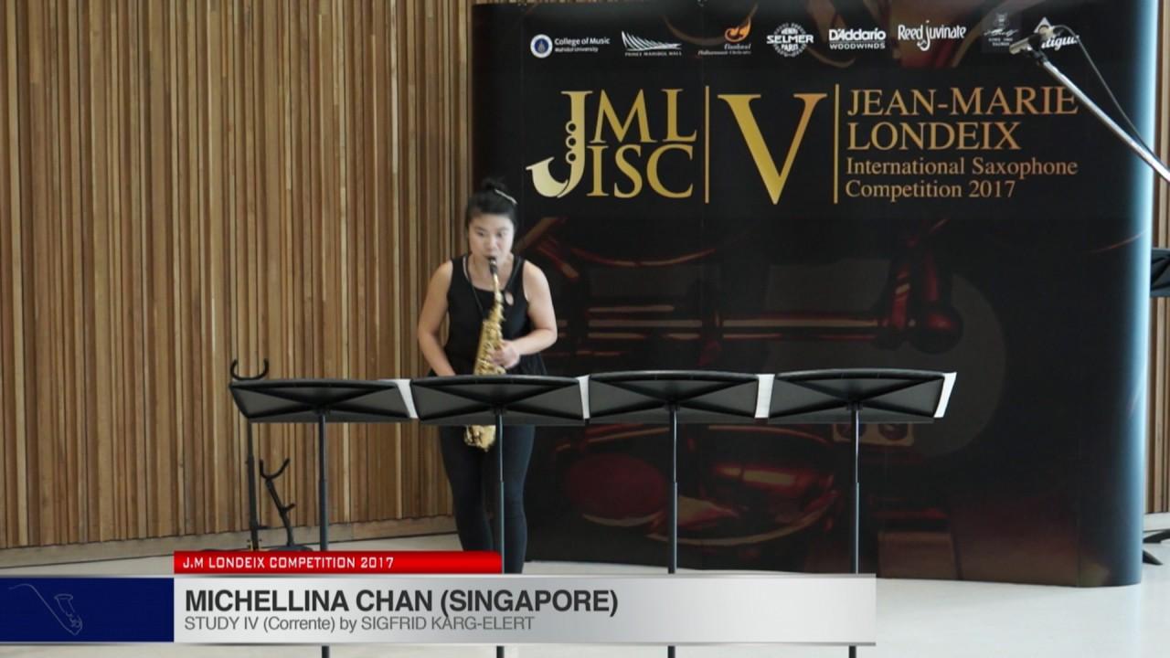 Londeix 2017 - Michellina Chan (Singapore) - IV Corrente by Sigfrid Karg Elert