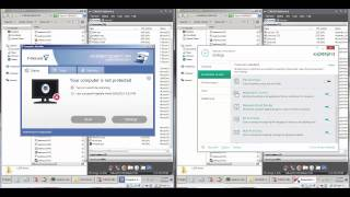 Quicktest: F Secure vs Kaspersky