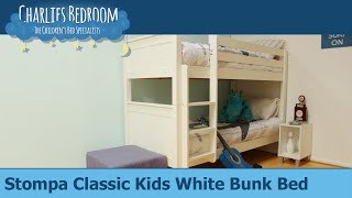 Stompa Classic Kids White Bunk Bed - Charlies Bedroom