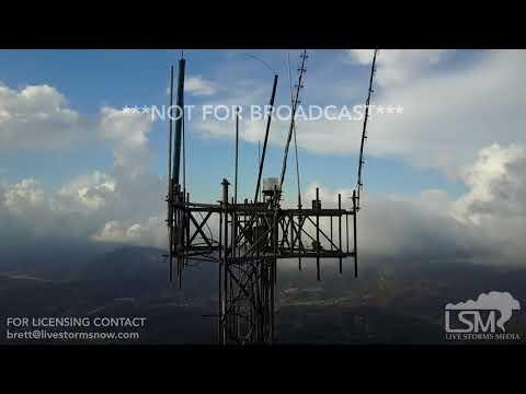 9-28-2017 Cerro de Punta, Puerto Rico Homeland Security fixing com towers Hurricane Maria damage
