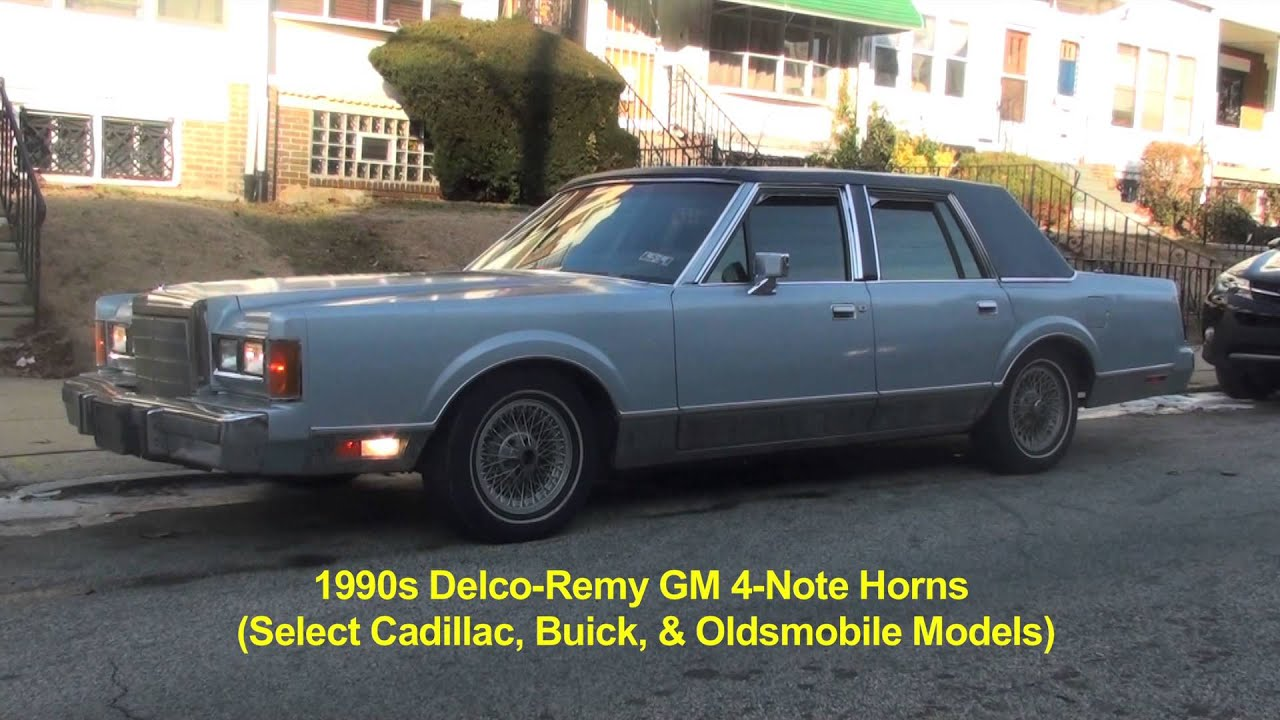 hight resolution of cadillac 4 note horn setup in 1989 lincoln town car 2
