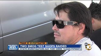Team 10 cameras roll as investigators serve warrants following sting on smog shops