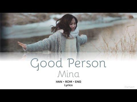 "TWICE (트와이스) Mina (미나) - ""Good Person"" Lyrics [HAN/ROM/ENG]"