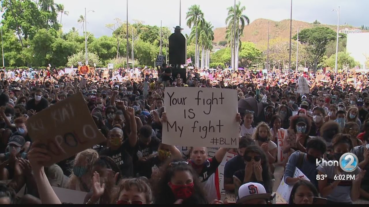 Roughly 10,000 in Honolulu unite, resolves to be heard in Black Lives Matter movement