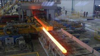 Актюбинский рельсобалочный завод. Выпускает рельсы, балки, уголки, швеллеры