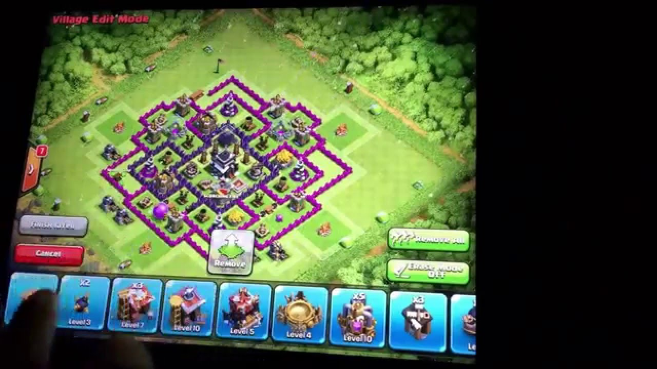 The best town hall 9 trophy base no archer queen youtube