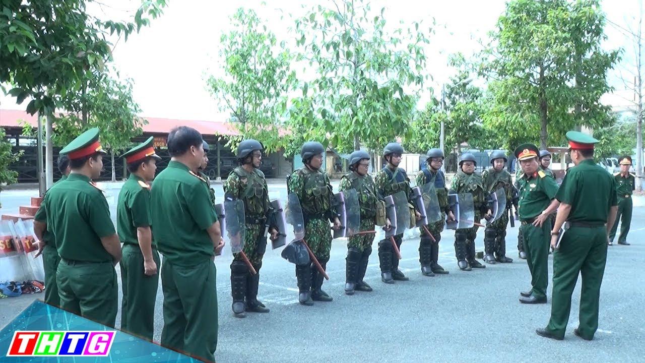 Kiểm tra công tác huấn luyện chiến đấu bộ chỉ huy quân sự tỉnh Tiền Giang năm 2020