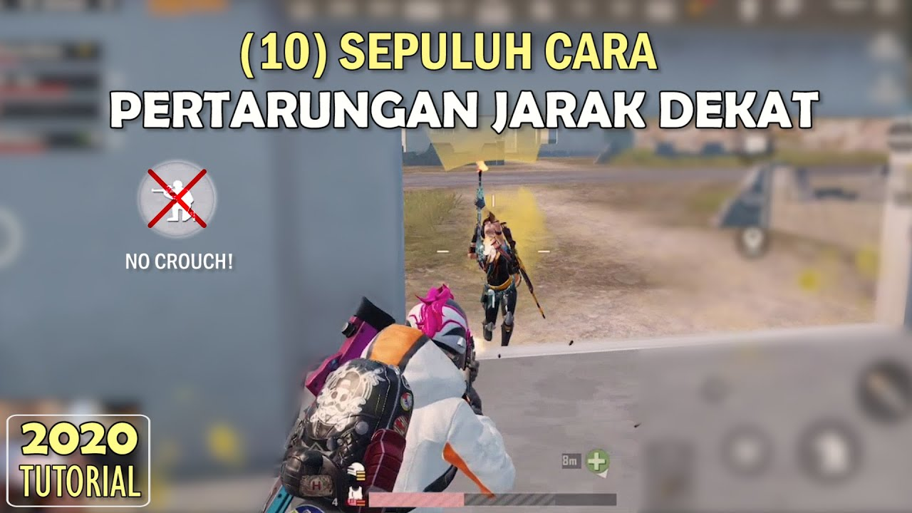 Top 10 Cara Memenangkan Pertempuran Jarak Dekat | Tutorial Close Combat - PUBG Mobile