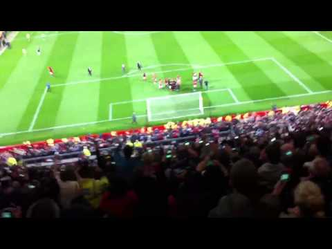 Manchester United winning their 20th Premier League Title 2012/2013