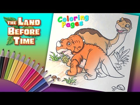 - The Land Before Time #ColoringBook Page #ForKids Coloring Littlefoot And  Cera - YouTube