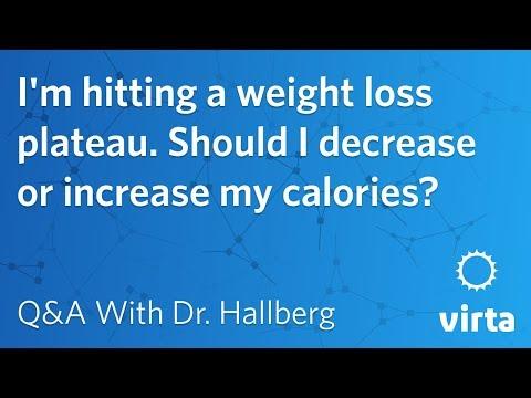 Dr. Sarah Hallberg: I'm hitting a weight loss plateau. Should I decrease or increase my calories?