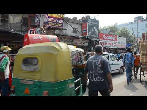 Rickshaw ride to Khari Baoli spice market Old Delhi