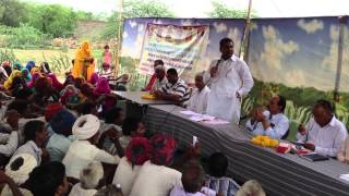 Ramlal Jat- MLA - Bhilwara addressing people of PIPLI place