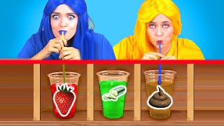 DON'T CHOOSE THE WRONG MYSTERY DRINK CHALLENGE! Last To Stop Wins! Wrong Straw by KABOOM!
