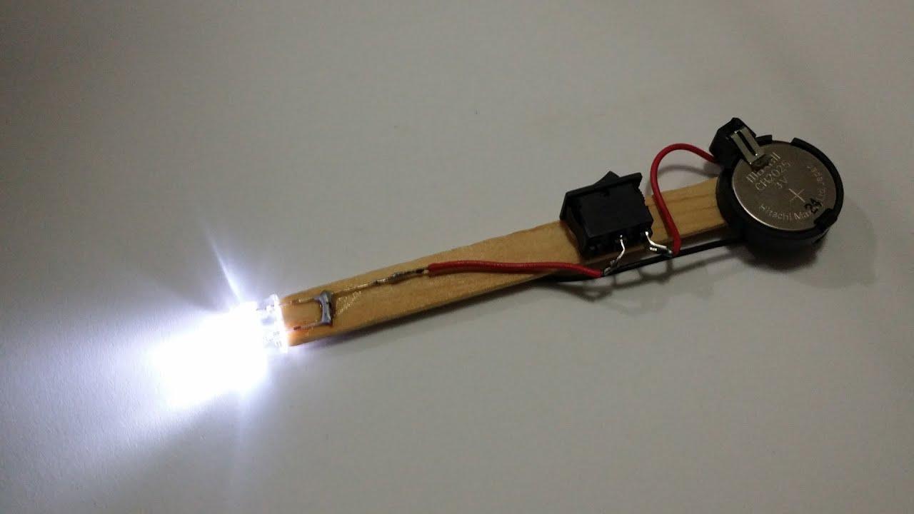 Como fazer uma lanterna de LEDs no palito  YouTube