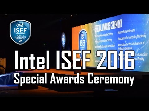 Intel ISEF 2016 - Special Awards Ceremony - Phoenix
