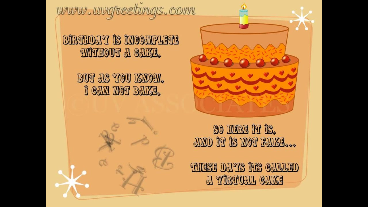 Birthday Ecard Virtual Cake Youtube