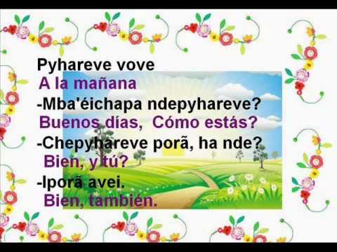 Aprende Guarani Saludos En Guarani Youtube