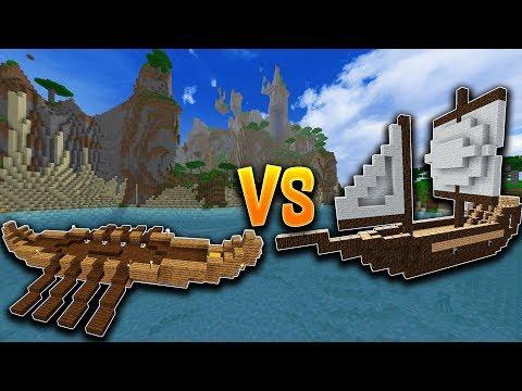 OP BOAT CANNONS PVP!! Minecraft Ship Wars VS PrestonPlayz KenWorthGaming and ShenaniganSam!