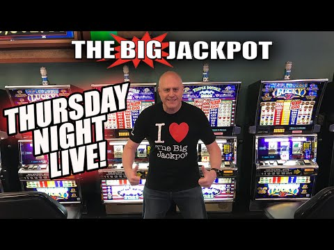 🔴 Thirsty for Thursday Night LIVE SLOT PLAY 😛 with The Big Jackpot! - 동영상
