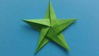 How to make an Origami Star как сделать оригами звезду