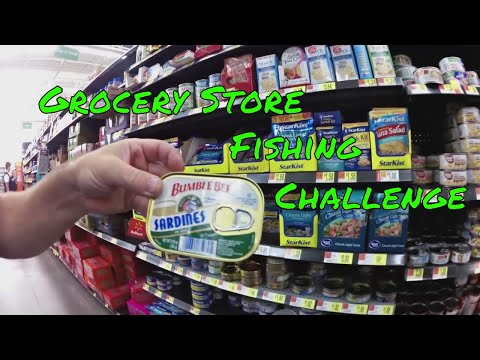 Grocery Store Fishing Challenge - Using food for bait
