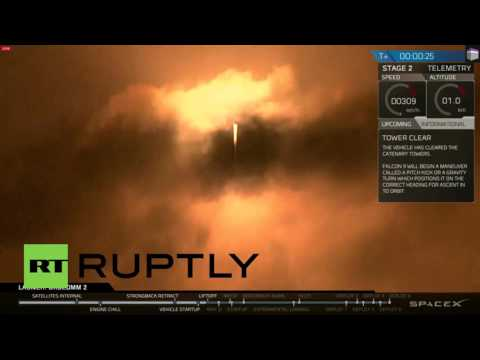 USA: SpaceX sends rocket to space and back with upright landing
